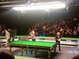 Getting ready for the UK Championship final 2015