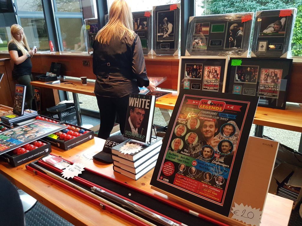 Snooker merchandise at Goffs